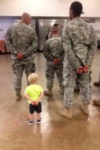 son copying military dad from Facebook Jeff Donovan picture 20131004