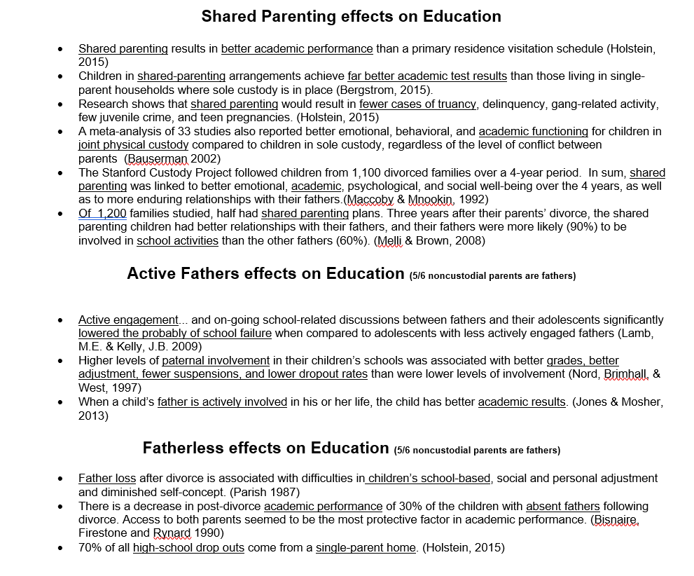 shared parenting effects on education 1 - 1 feb 2017