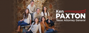 Ken Paxton and his family