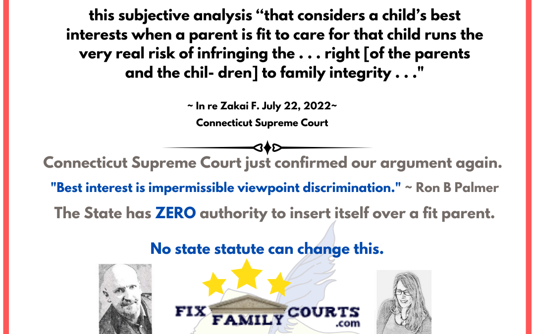 Supreme Court of Connecticut Parental Rights Case confirms Clear and Convincing is Required to Protect Parent and Child's Rights
